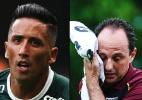 Fotomontagem: Agências Palmeiras, Corinthians e Santos FC, e Julia Chequer/Folhapress