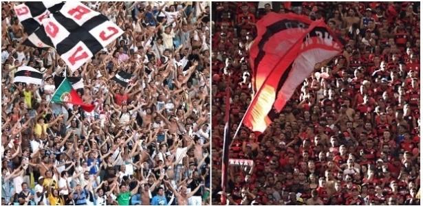 Será um sábado de emoções em Volta Redonda para as torcidas de Vasco e Flamengo - Montagem/UOL