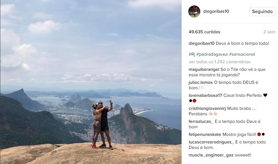 Enquanto milhares curtiam o Carnaval, Diego fazia a trilha da Pedra da Gávea