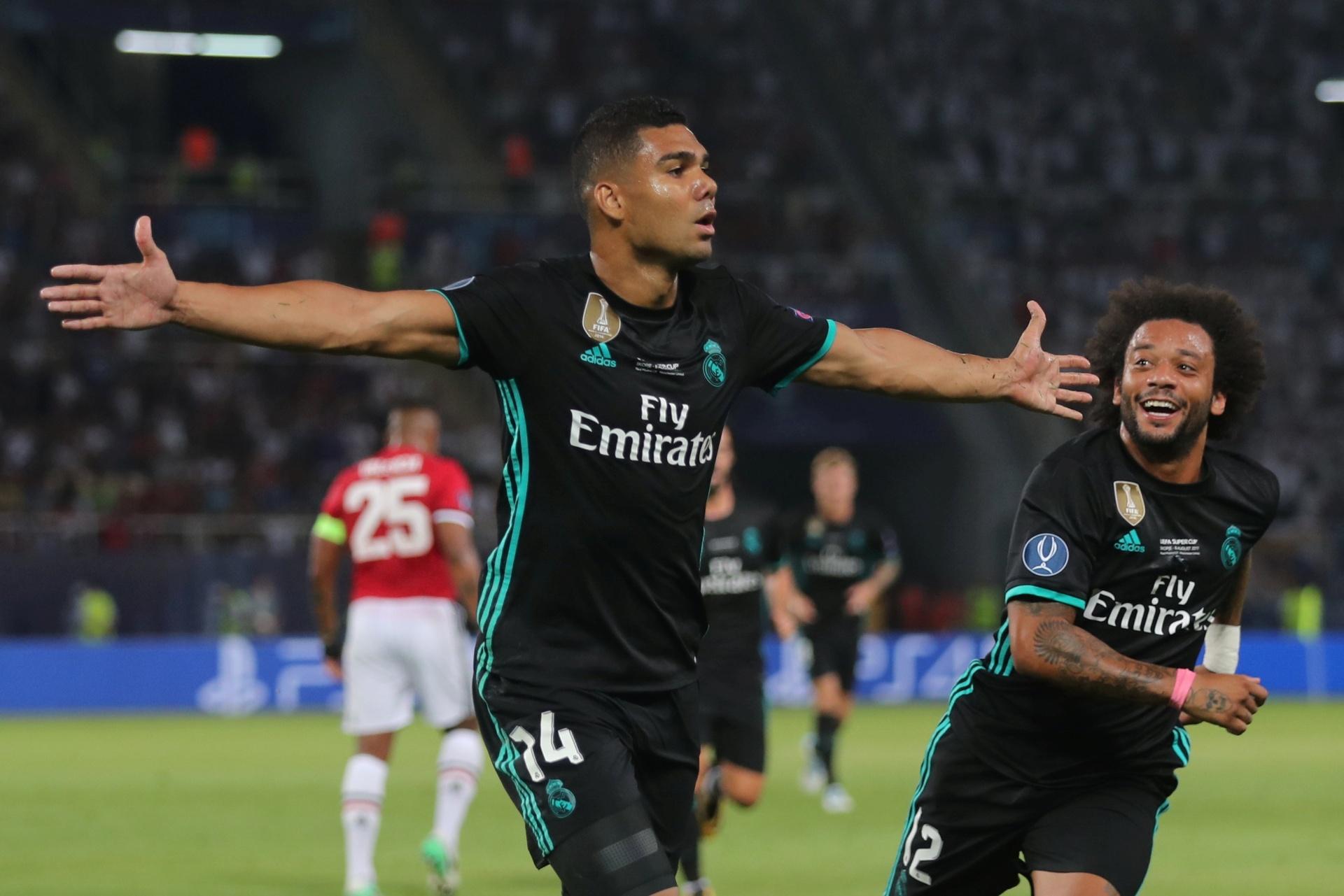 6b36623757 Real Madrid é campeão da Supercopa em cima do United com gol de Casemiro -  08 08 2017 - UOL Esporte