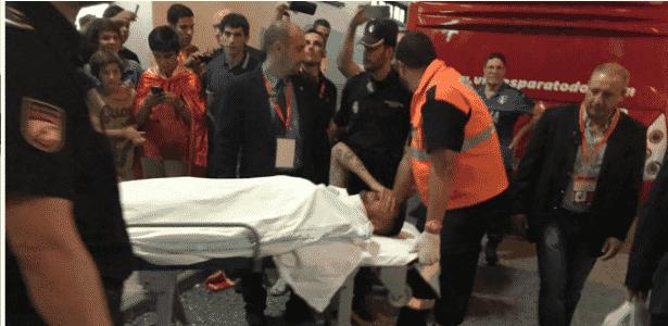 Jogador do Real Madrid sofre trauma cervical em jogo da Espanha sub ... cd26af30b0ddf