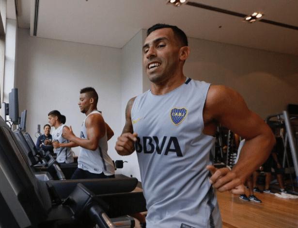 Tevez já iniciou os treinamentos com os novos companheiros