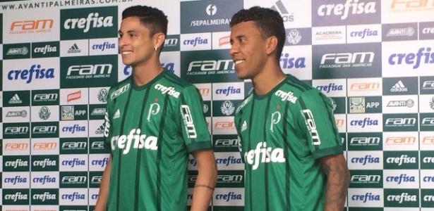 Diogo Barbosa e Marcos Rocha são apresentados no Palmeiras