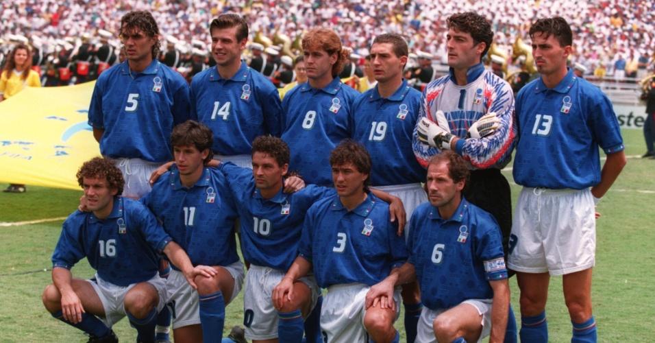 Seleção da Itália antes da final da Copa do Mundo de 1994