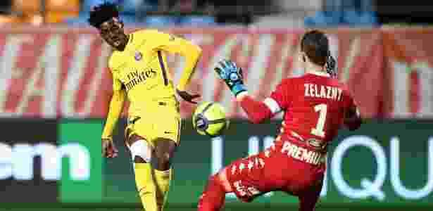 Timothy Weah joga como atacante, mesma posição de seu pai - Franck Fife/AFP