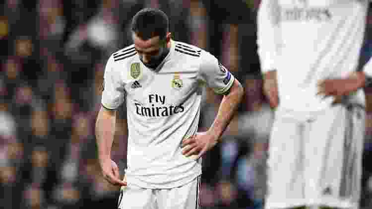 Dani Carvajal após derrota do Real Madrid para o Ajax - Gabriel Bouys/AFP - Gabriel Bouys/AFP