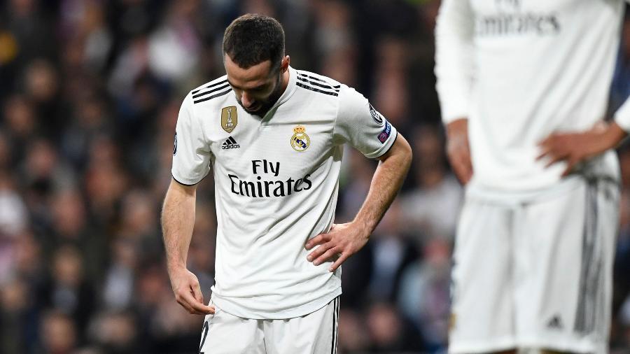 Dani Carvajal após derrota do Real Madrid para o Ajax - Gabriel Bouys/AFP