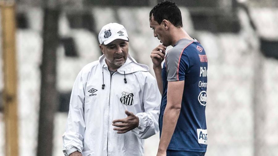 Meia Diego Pituca caiu nas graças do técnico Jorge Sampaoli - Ivan Storti/Santos FC