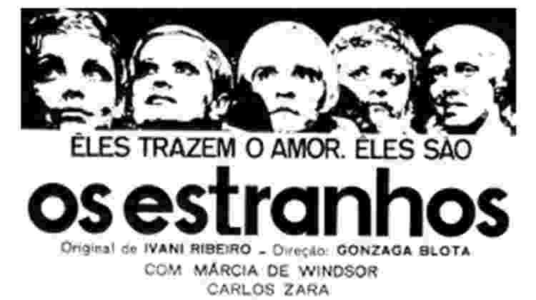 """Anúncio da novela """"Os Estranhos"""", da TV Excelsior - Reprodução"""