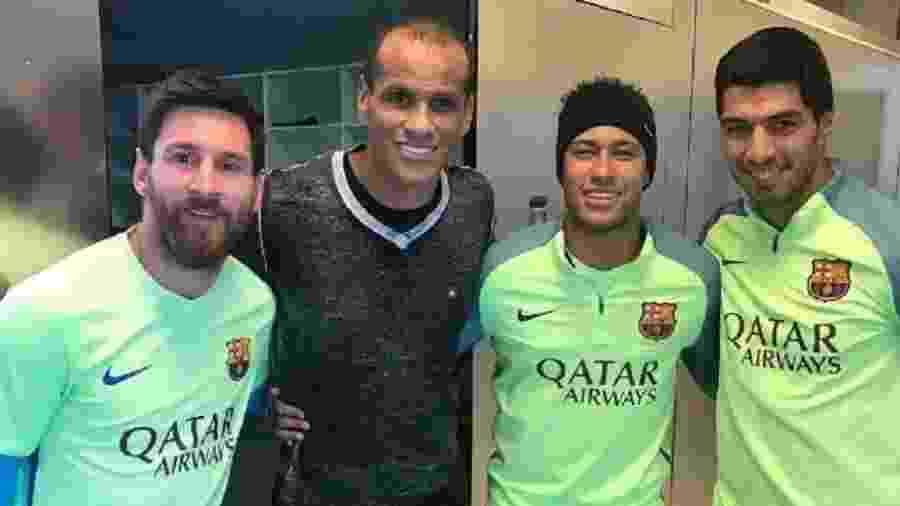 Rivaldo ao lado de Messi, Neymar e Suárez - Reprodução/Instagram