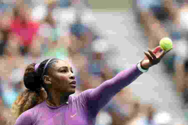 Serena Williams durante partida contra a croata Petra Martic no US Open, em 2019 - Elsa/Getty Images/AFP - Elsa/Getty Images/AFP