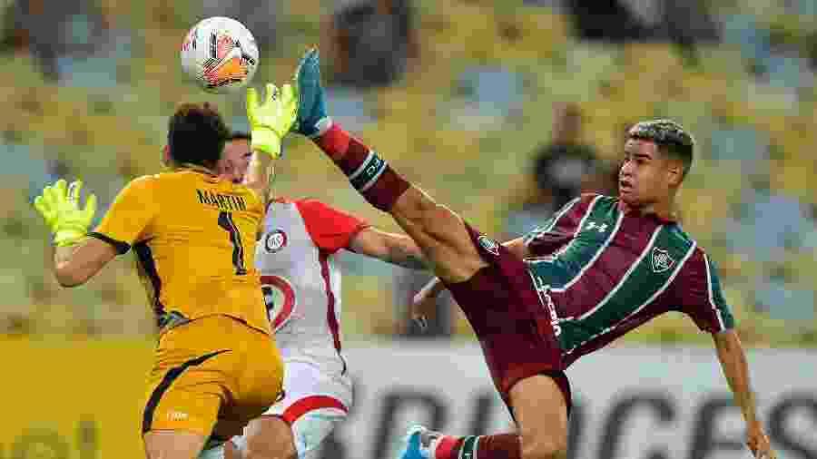 Fluminense teve atuação apagada e cedeu empate ao La Calera quatro minutos após abrir placar - Thiago Ribeiro/AGIF