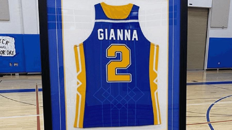 Gianna Bryant teve a camisa aposentada na escola por onde jogava basquete - Reprodução/Instagram