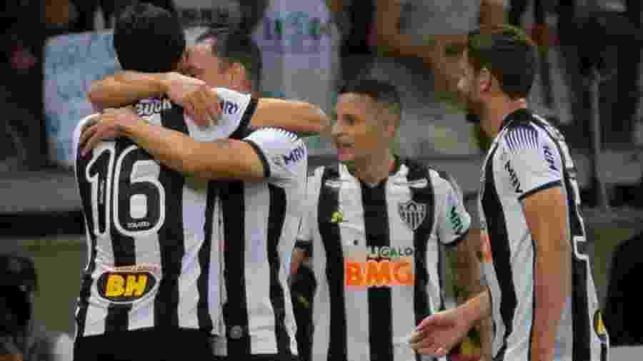 Jogadores do Atlético-MG comemoram gol - Fernando Moreno/Agif