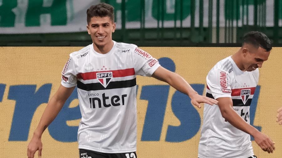 Vitor Bueno, do São Paulo, estará à disposição de Fernando Diniz contra o Red Bull Bragantino - Marcello Zambrana/AGIF