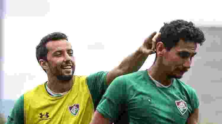 Disputa entre Nenê e Ganso é só esportiva; dupla tem grande amizade no Fluminense - Lucas Mercon/Fluminense FC - Lucas Mercon/Fluminense FC