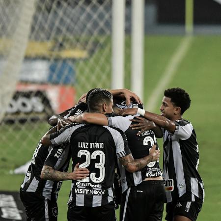 Jogadores do Botafogo comemoram gol sobre o Resende em partida do Carioca 2021 - Thiago Ribeiro/AGIF