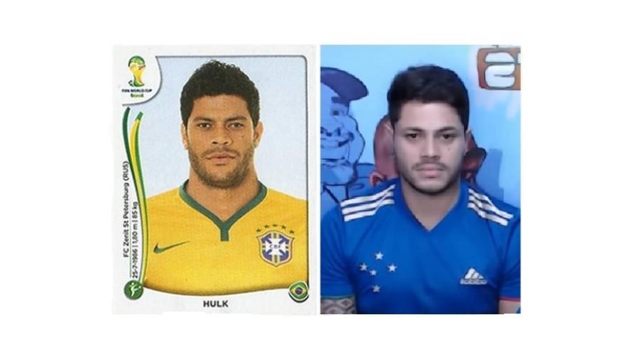 Eddie Miranda viralizou nas redes sociais por ser parecido com Hulk, atacante do Atlético-MG - Reprodução