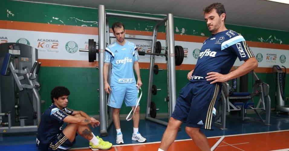 Egídio e Lucas participam de trabalhos físicos no Palmeiras