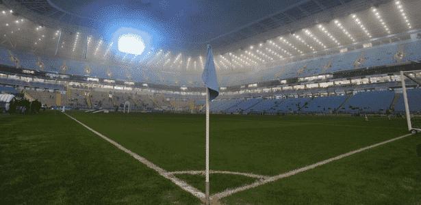 Neblina presente em Grêmio e Cruzeiro na fria noite de Porto Alegre - Lucas Uebel/Grêmio - Lucas Uebel/Grêmio