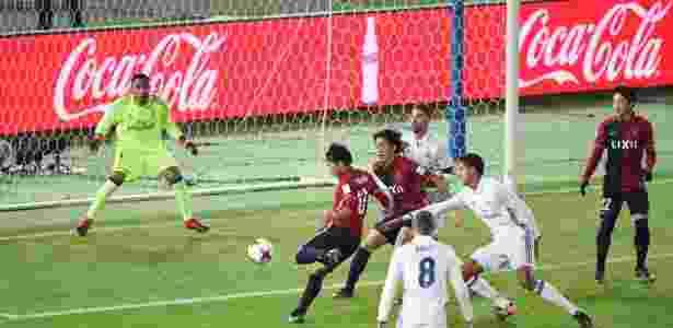 Gaku Shibasaki finaliza para empatar a partida entre Real Madrid e Kashima Antlers - Toru Yamanaka/AFP - Toru Yamanaka/AFP