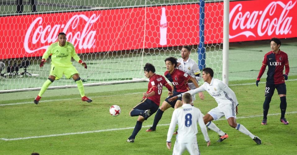 Gaku Shibasaki finaliza para empatar a partida entre Real Madrid e Kashima Antlers