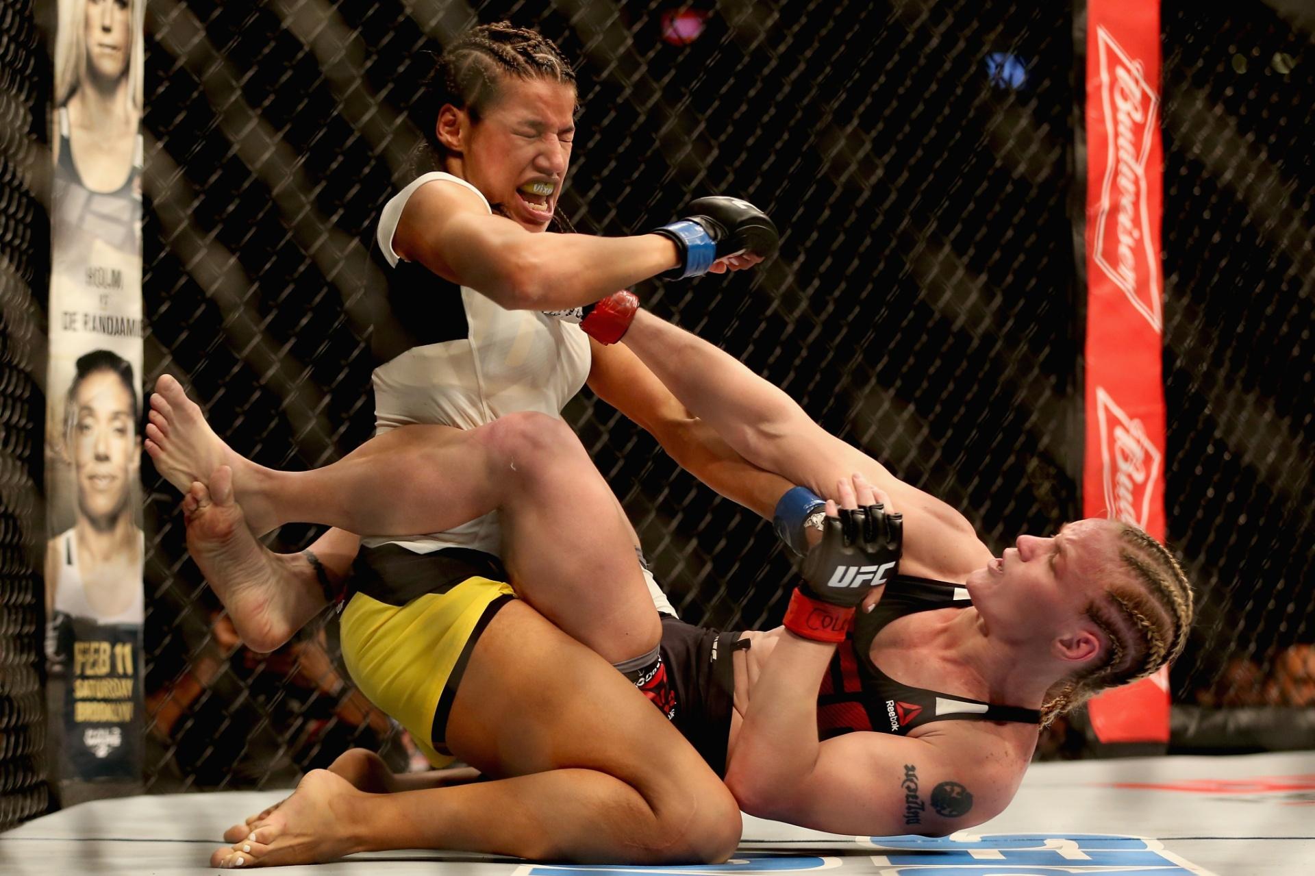 Julianna Peña e Valentina Shevchenko se enfrentaram no UFC Colorado