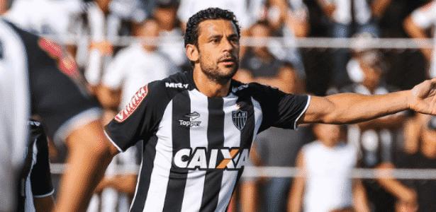Fred orienta companheiros em campo contra o Tricordiano - Divulgação/Atlético-MG - Divulgação/Atlético-MG