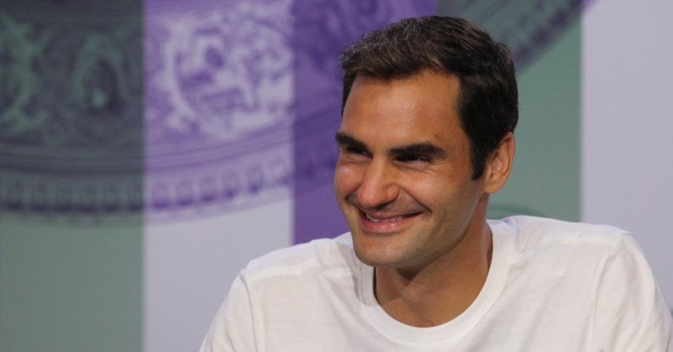 Federer em entrevista depois de conquistar wimbledon pela oitava vez