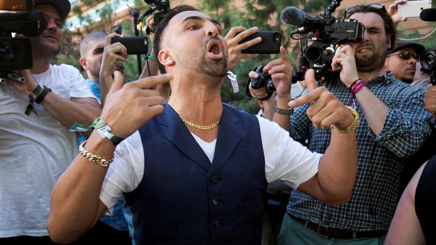Boxeador Paulie Malignaggi provoca McGregor antes de suerluta - Las Vegas Sun/Steve Marcus/Reuters
