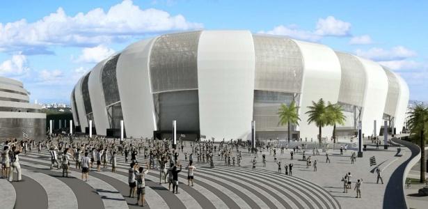 Projeção de como vai ficar o estádio do Atlético-MG - Reprodução