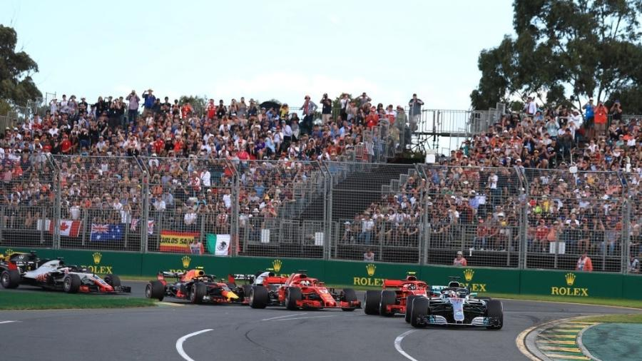 Largada do GP da Austrália, em Melboune - Octane/Action Plus via Getty Images