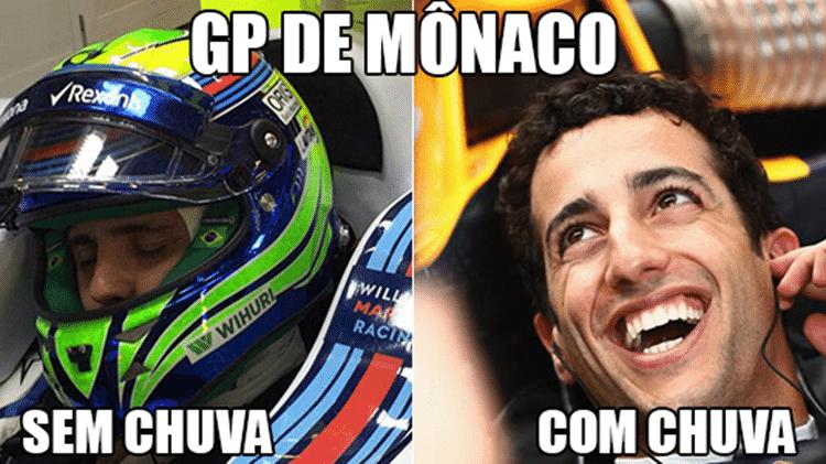 Meme chuva no GP de Mônaco - Reprodução - Reprodução