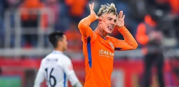 Atacante que jogou o Brasileirão pelo Atlético-MG fez o sétimo jogo na China - Reprodução/Instagram
