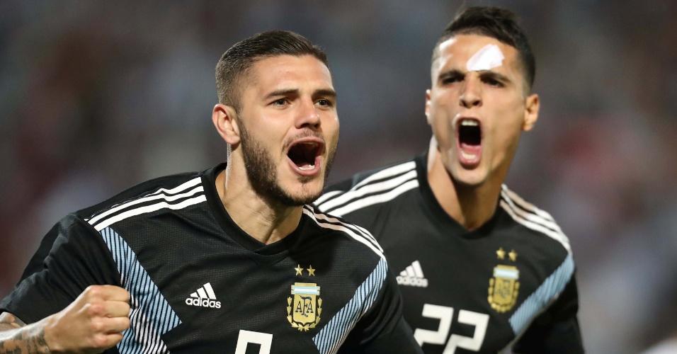Icardi comemora gol da Argentina contra o México