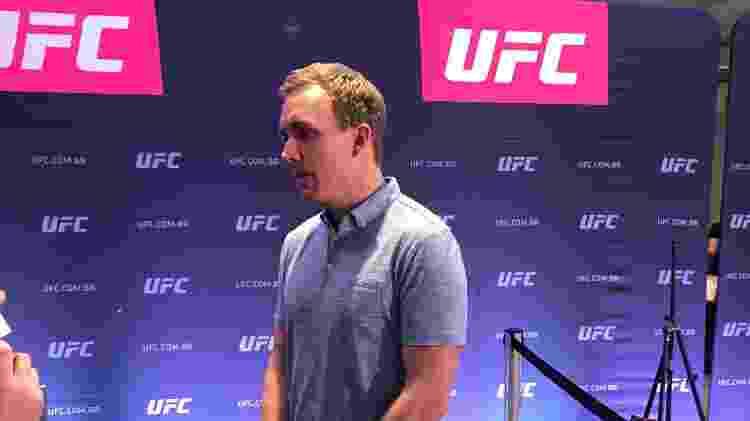 """Vice-presidente do UFC, David Shaw revelou que organização elabora """"conteúdo local"""" para o Brasil - Bruno Braz / UOL Esporte"""