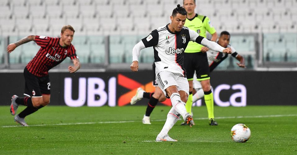 Cristiano Ronaldo perdeu pênalti para a Juventus contra o Milan na Copa da Itália