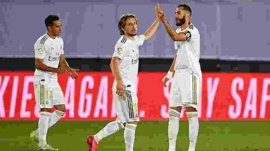 Luka Modric, durante partida do Real Madrid; meia croata falou sobre saída de Cristiano Ronaldo - GABRIEL BOUYS / AFP