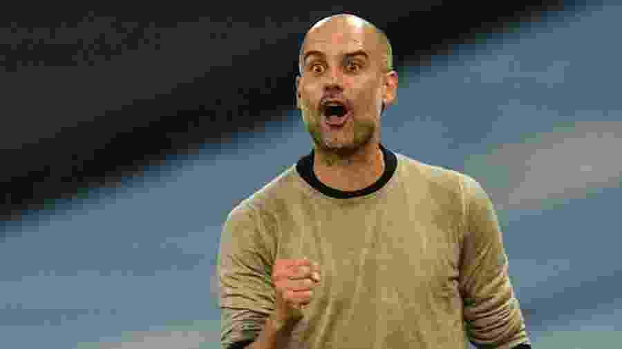 Pep Guardiola busca chegar à semifinal com o Manchester City pela primeira vez na Liga dos Campeões - REUTERS/Oli Scarff