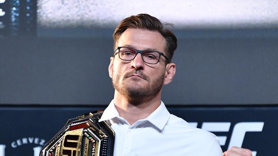 Stipe Miocic, com o cinturão do UFC - Jeff Bottari/Zuffa LLC