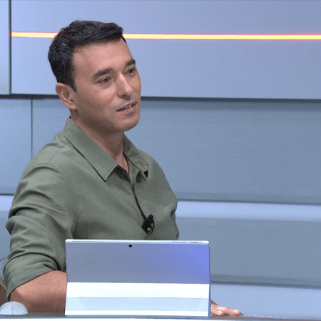 André Rizek, no Seleção SporTV - Reprodução/SporTV