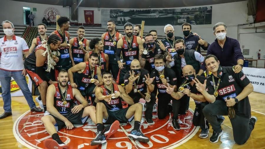 Franca é tri-campeão paulista de basquete - Divulgação/FPB