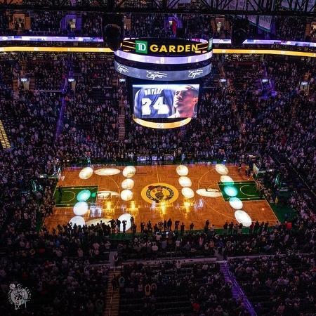 Celtics homenagearam Kobe, ídolo do maior rival - Reprodução