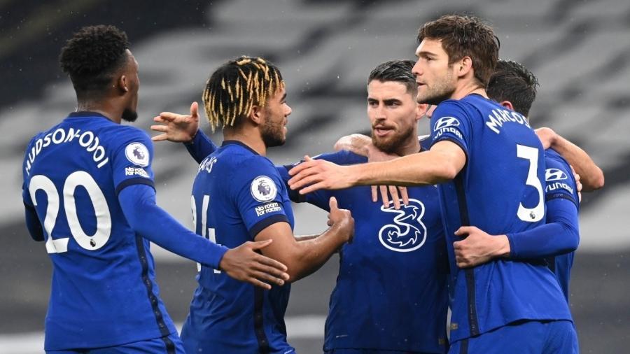 Chelsea vence o Tottenham com gol de Jorginho  - NEIL HALL / POOL / AFP