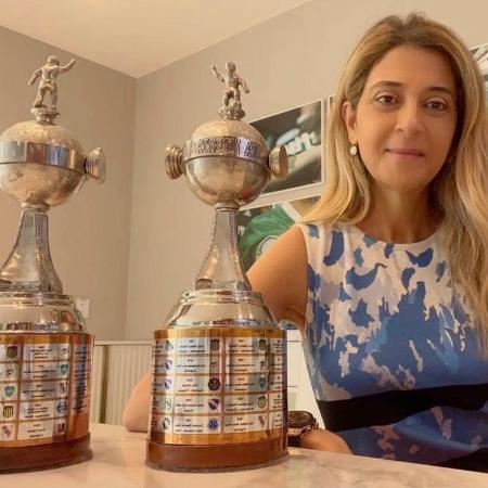 Leila Pereira celebra o bicampeonato da Copa Libertadores - Reprodução