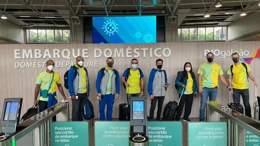 Brasileiros embarcando para a Olimpíada de Tóquio - Reprodução
