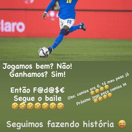 Neymar - Reprodução/Stories - Reprodução/Stories