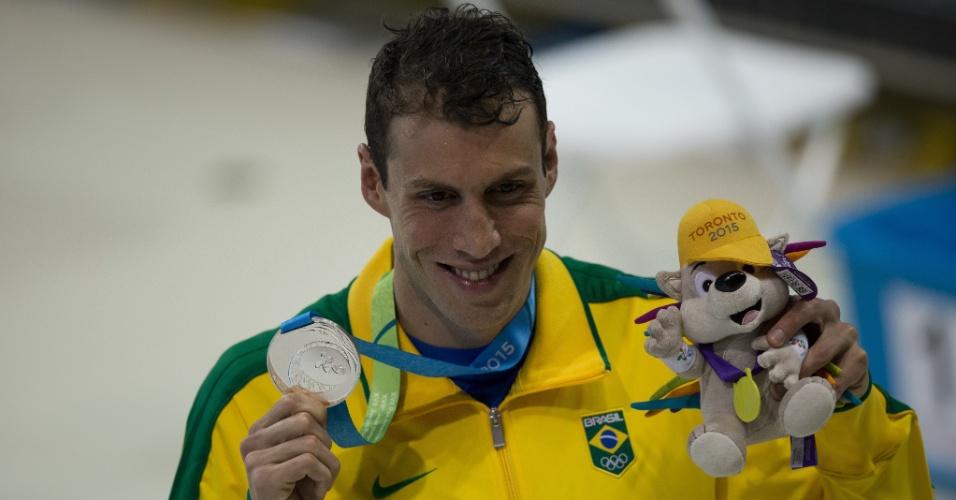 Guilherme Guido conquista a medalha de prata nos 100m costas