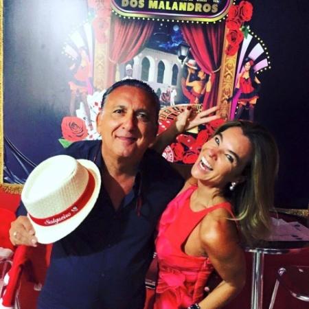 Galvão Bueno posa com a mulher, Desirée Soares - Instagram/Reprodução