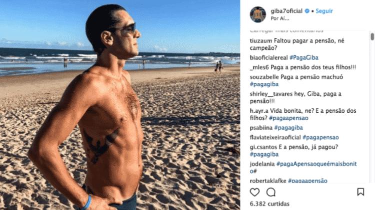 Giba Instagram - Reprodução/Instagram - Reprodução/Instagram